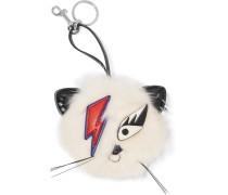 Ziggy Stardust Schlüsselanhänger Aus Faux Fur Mit Applikation -