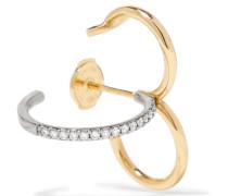 Clover Ohrring Aus 18 Karat Gelb- Und Weiß Mit Diamanten
