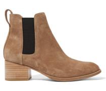 Walker Chelsea Boots Aus Veloursleder - Camel