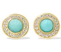 Lollipop® Ohrringe Aus 18 Karat  Mit Türkisen Und Diamanten