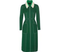 Kleid Aus Georgette Mit Steppdetails - Dunkelgrün