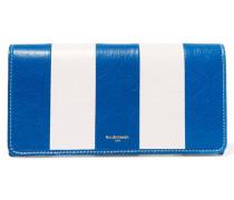 Gestreiftes Portemonnaie Aus Strukturiertem Leder - Blau