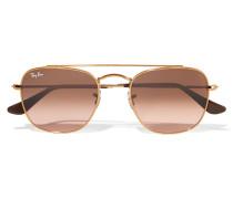 Goldfarbene Pilotensonnenbrille - Braun