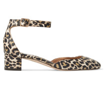 Evelyn Pumps Aus Leder Mit Leopardenprint -