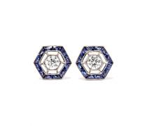 Collection Ohrringe aus 18 Karat  mit Saphiren und Diamanten