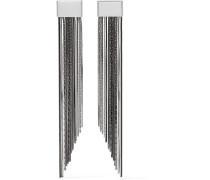 Cattiva Palladiumfarbene Ohrringe - Stahlgrau