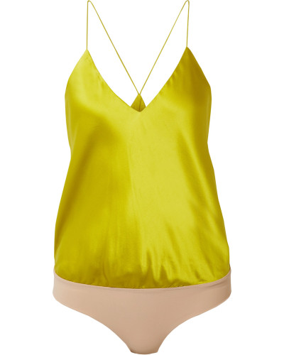 Lewis Body aus Charmeuse und Stretch-jersey