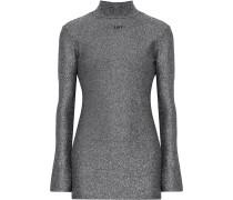 Minikleid Aus Lurex® Mit Intarsienmotiv Und Rückenausschnitt -