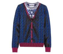Wollpullover Mit Intarsienmuster - Blau