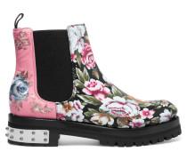 Chelsea Boots Aus Bedrucktem Leder Mit Stickereien -