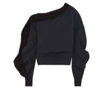 Sweatshirt Aus Einer Baumwollmischung Mit Asymmetrischer Schulterpartie -