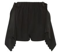 Shorts Aus Drapiertem Crêpe De Chine Aus Seide Mit Wellenkanten -