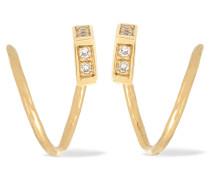 Twirl Ohrringe Aus 18 Karat Gold Mit Diamanten