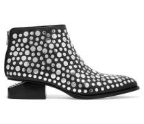 Kori Nietenbesetzte Ankle Boots Aus Leder Mit Cut-outs - Schwarz