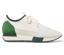 Race Runner Sneakers Aus Leder, Mesh, Neopren Und Veloursleder -