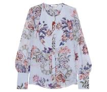 Azzura Bluse Aus Seiden-voile Mit Floralem Print -