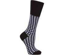 Karierte Socken Aus Einer Baumwollmischung - Schwarz - EU35