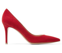 Pumps Aus Veloursleder - Rot