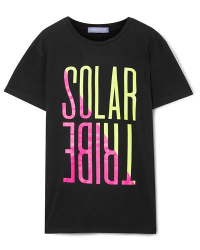 Solar Tribe T-shirt aus Baumwoll-jersey