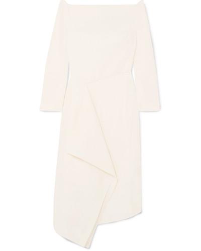 Clover Schulterfreies Kleid aus Woll-crêpe