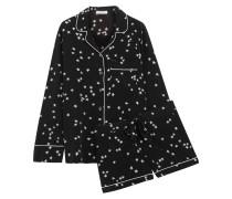 Lillian Pyjama Aus Vorgewaschener Seide - Schwarz
