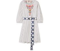 Edette Minikleid aus Besticktem Baumwoll-voile