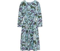 Juntos Kleid Aus Bedrucktem Seiden-crêpe - Blau