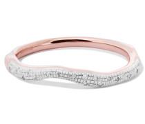 Riva Wave Ring Aus Roségold-vermeil Mit Diamanten