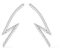 Lightning Bolt Verte Ohrringe Mit Cubic Zirkonia-steinen