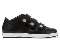 Ny Sneakers Aus Leder Mit Nieten -