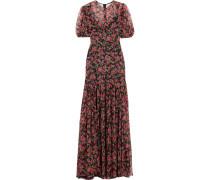 Roseline Robe Aus Seidenchiffon Mit Blumendruck -