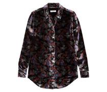 Essential Bedrucktes Hemd Aus Samt -
