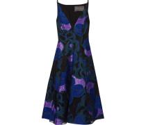 Kleid mit Fil Coupé und Einsatz aus Organza