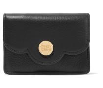 Polina Portemonnaie aus Strukturiertem Leder mit Wellenkanten -