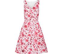 Kleid Aus Stretch-baumwolle Mit Blumenprint -