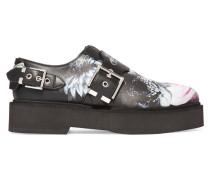 Loafers Aus Leder Mit Print Und Plateau - Schwarz