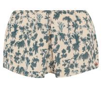 Blush Bedruckte Pyjama-shorts Aus Satin - Blau