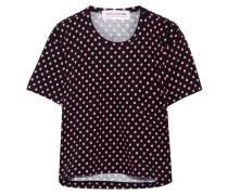 T-shirt Aus Baumwoll-jersey Mit Polka-dots -