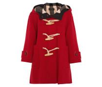 Oversized-dufflecoat Aus Einer Wollmischung - Rot