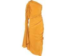 Remi Gerafftes Seidenkleid aus Crêpe De Chine -