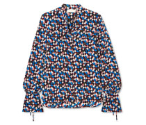 Gianna Bedruckte Bluse Aus Seiden-crêpe -