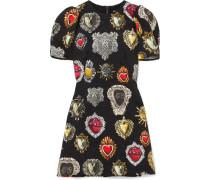 Minikleid aus Jacquard -