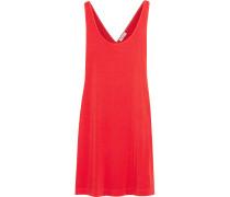 Minikleid Aus Stretch-jersey Mit überkreuzter Rückenpartie - Tomatenrot