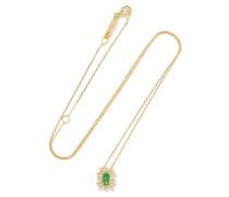 Kette aus 18 Karat  mit Smaragd und Diamanten