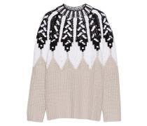 Pullover aus einer Wollmischung mit Intarsienmuster