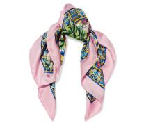 Bedrucktes Tuch Aus Seiden-twill - Pink