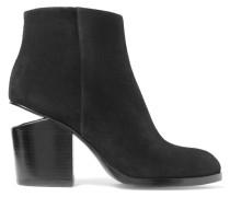 Gabi Ankle Boots Aus Veloursleder Mit Cut-outs - Schwarz