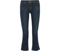 Selena Verkürzte Halbhohe Bootcut-jeans - Mittelblauer Denim