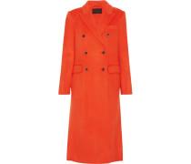 Collection Doppelreihiger Mantel Aus Einer Wollmischung - Knallorange