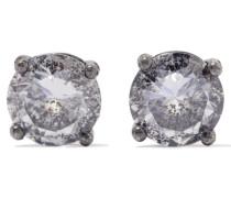 Ohrringe Aus Oxidiertem  Mit Cubic Zirkonia-steinen